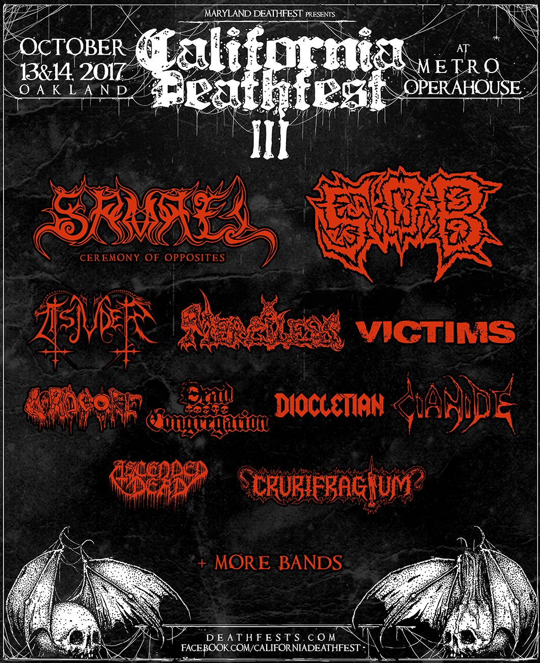 California Deathfest 2017 Flyer